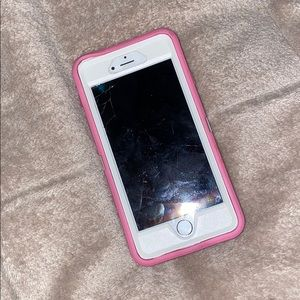 3 piece pink otter box iPhone 6s case